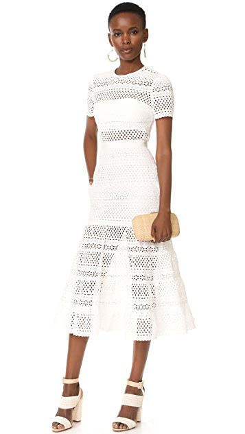 Self Portrait Bea Midi Dress