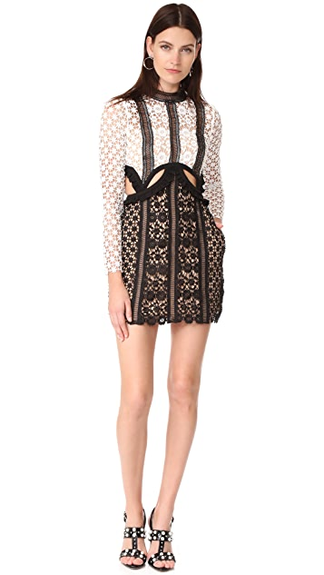 Self Portrait Payne Cutout Mini Dress