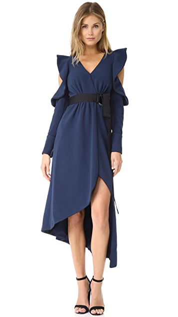 asymmetric wrap dress - Unavailable Self Portrait 1HlMU