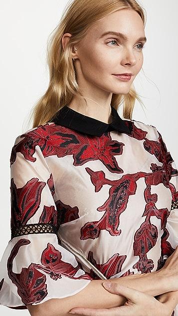 Self Portrait Floral Fil Coupe Dress