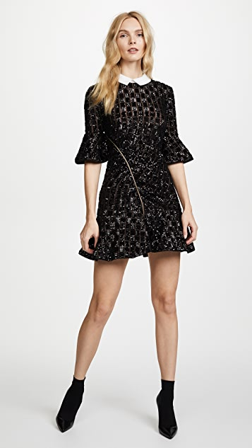 Self Portrait Sequin Embroidery Dress