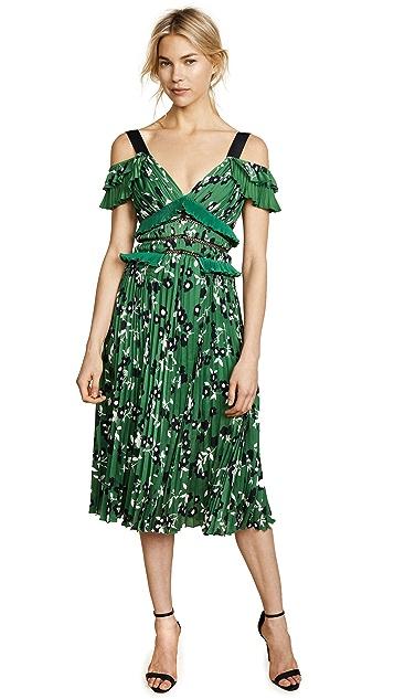 Self Portrait Cold Shoulder Floral Printed Dress