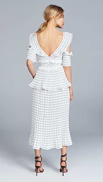 Self Portrait Monochrome Trimmed Dress