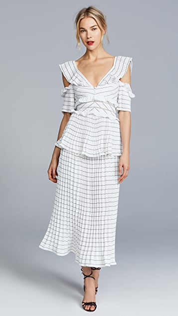 Self Portrait Monochrome Trimmed Dress