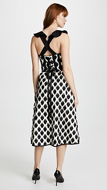 Self Portrait 3D Petal Midi Dress