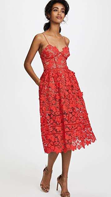 Self Portrait 3D Floral Azaelea Dress