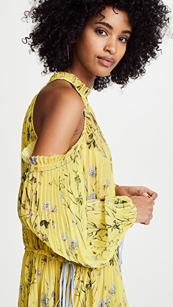 Self Portrait Floral Printed Maxi Dress