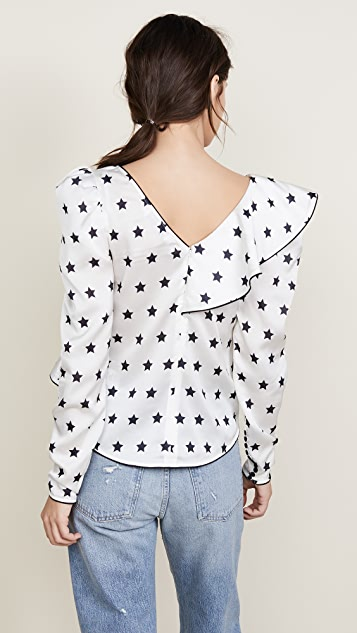 Self Portrait Star Frilled Top