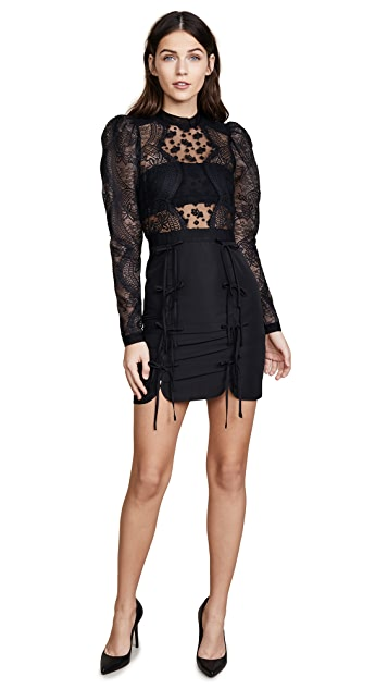 Self Portrait Lace Applique Mini Dress