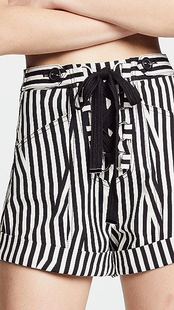 Self Portrait Stripe Shorts