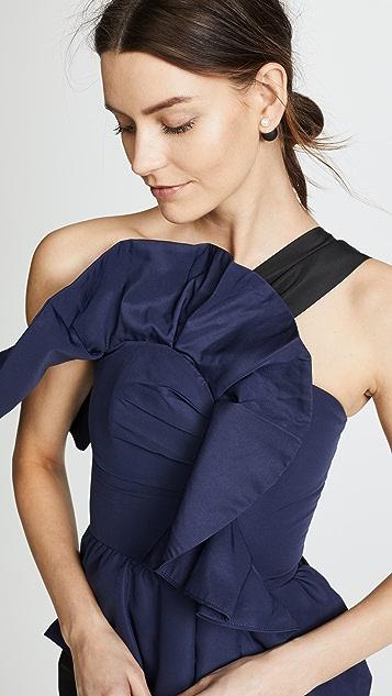 Self Portrait Ruffle Midi Dress
