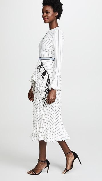 562ab43cad95 Self Portrait Monochrome Stripe Dress | SHOPBOP