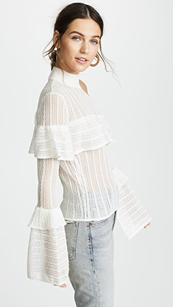 Self Portrait Bell Sleeve Knit