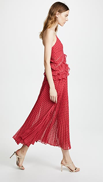 Self Portrait Panelled Maxi Dress