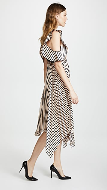 Self Portrait Stripe Midi Dress