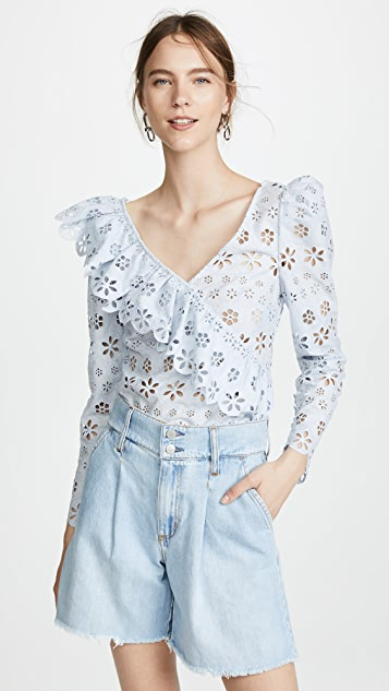 Self Portrait Frill Top