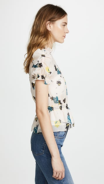 Self Portrait Floral Print Top