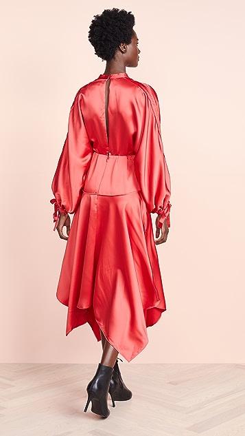 Self Portrait Satin Midi Dress