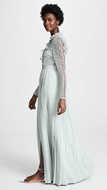 Self Portrait Spiral Lace Maxi Dress