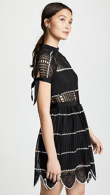 Self Portrait Crochet Dress