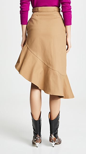 Self Portrait Flounced Skirt