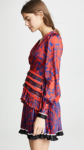 Self Portrait Printed Dress