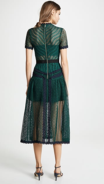 Self Portrait Wave Lace Dress