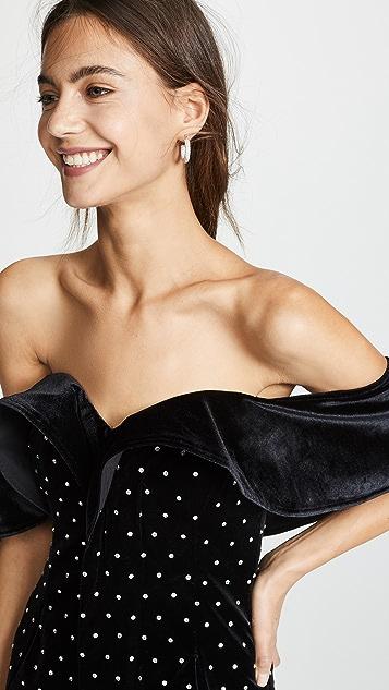 Self Portrait Бархатное платье с открытыми плечами