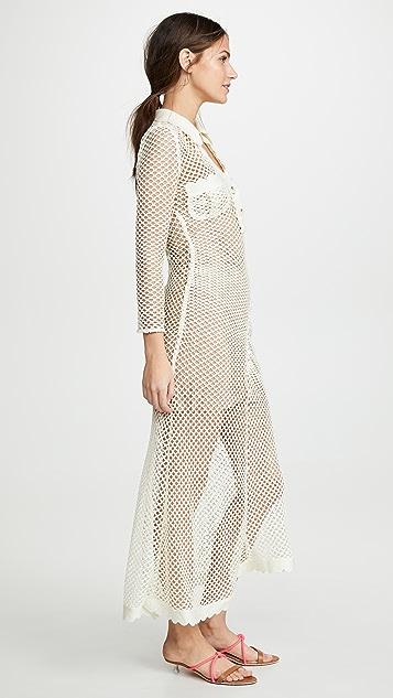 Self Portrait Сетчатое платье из ажурного кружева