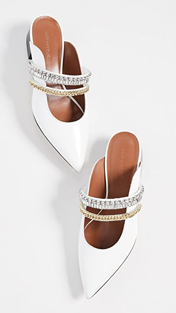 Self Portrait Carly Crystal-Embellished Flats