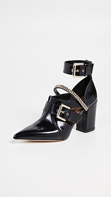 Self Portrait Holly Cut-Out Ankle Boots