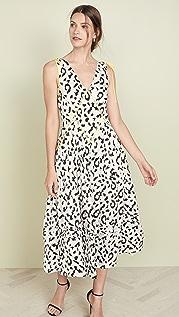 Self Portrait Sleevless Leopard Printed Dress