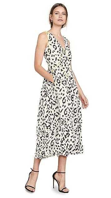 Self Portrait Платье с леопардовым принтом без рукавов
