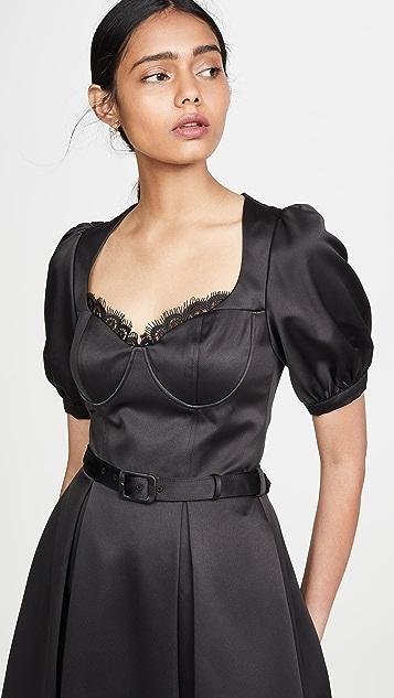 Self Portrait Черное миди-платье