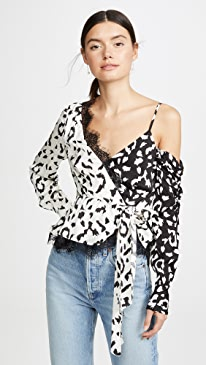 Leopard Printed Wrap Top