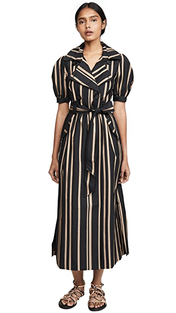Self Portrait Tailored Stripe Dress