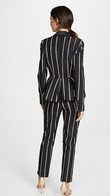 Self Portrait Tailoring Stripe Jumpsuit