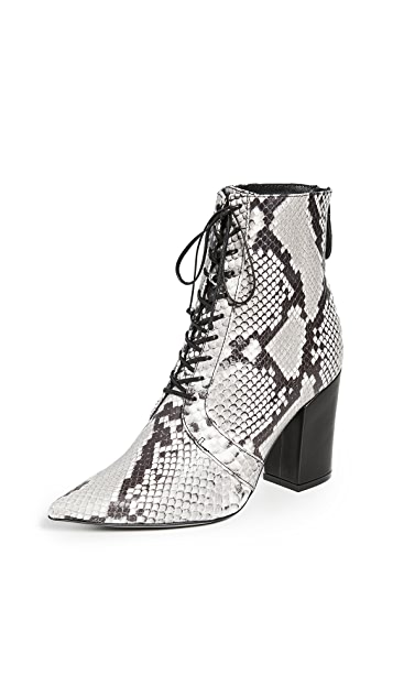 Self Portrait Amelia Lace Up Ankle Boots