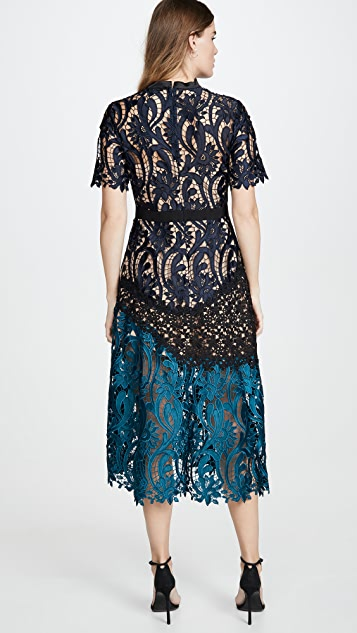 Self Portrait Prairie Midi Dress