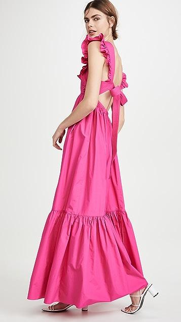 Self Portrait Poplin Maxi Dress