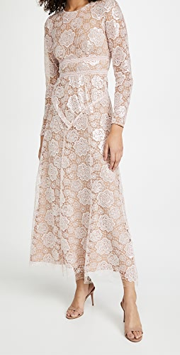 Self Portrait - Rose Lace Midi Dress
