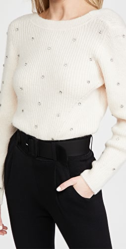 Self Portrait - Diamante Back Twist Sweater