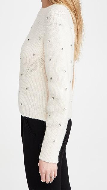 Self Portrait Diamante Back Twist Sweater