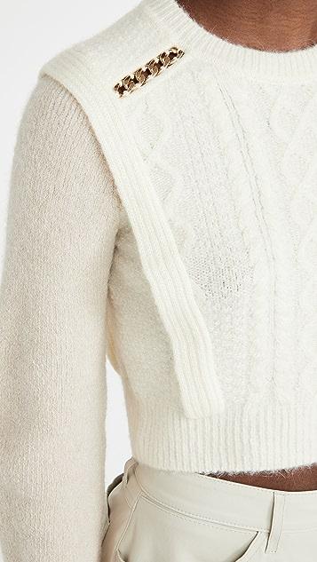 Self Portrait Contrast Color Knit Sweater