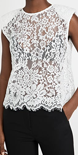 Self Portrait - Cord Lace Sleeveless Top
