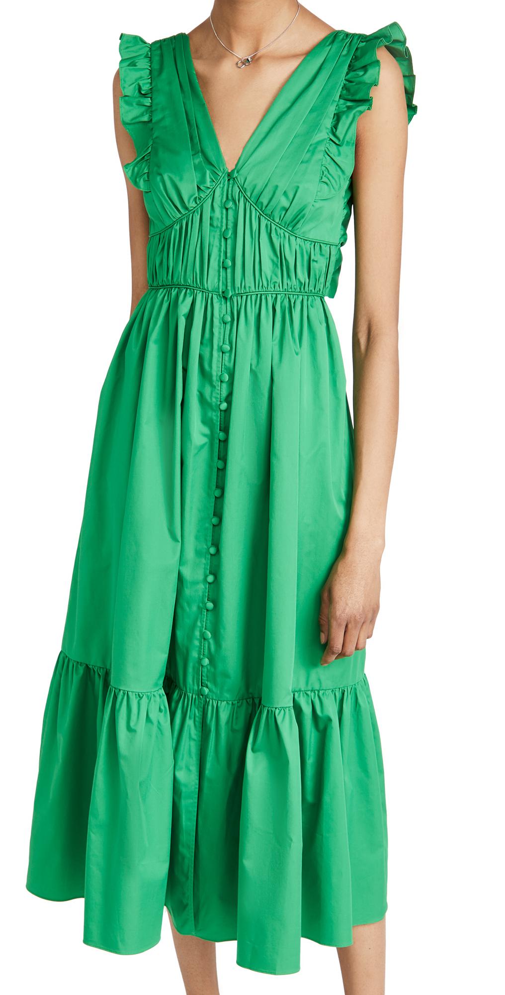 Self Portrait Cotton Midi Dress