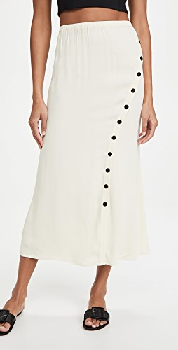 Self Portrait - Crepe Button Midi Skirt