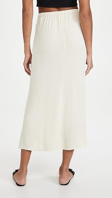 Self Portrait Crepe Button Midi Skirt