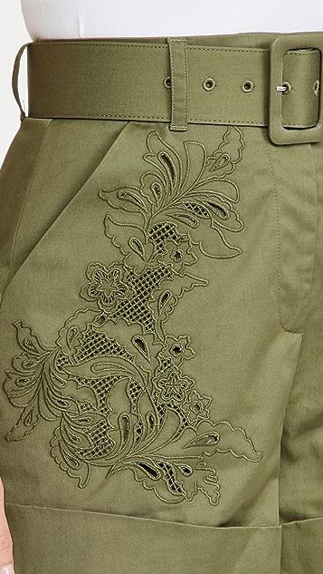 Self Portrait 刺绣短裤