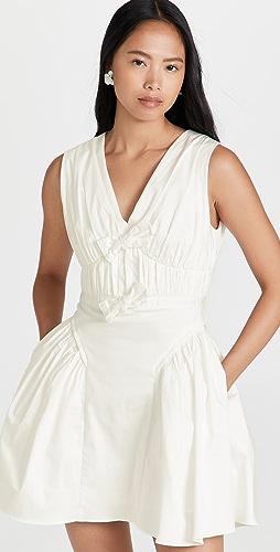 Self Portrait - White Bow Detail Mini Dress